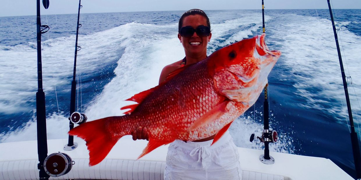 Nice red snapper caught on the Miss Ginger out of Orange Beach Al