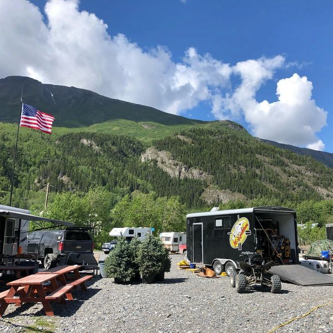 Copper River Campground in Chitina, gateway to Wrangell-St. Elias National Park and Preserve.