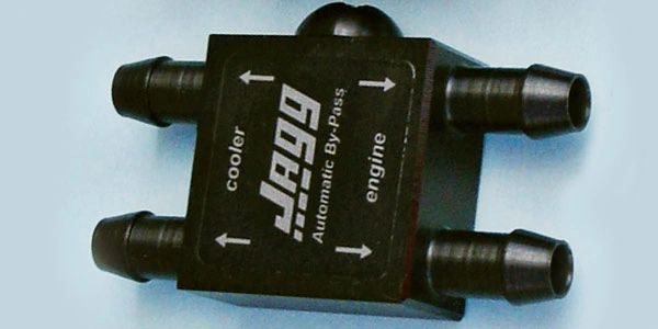 Jagg automatic bypass valve using thermostat activation