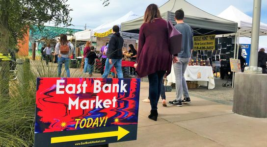 The East Bank Market is open every Tuesday March-November 4pm-7pm in Bossier City, La