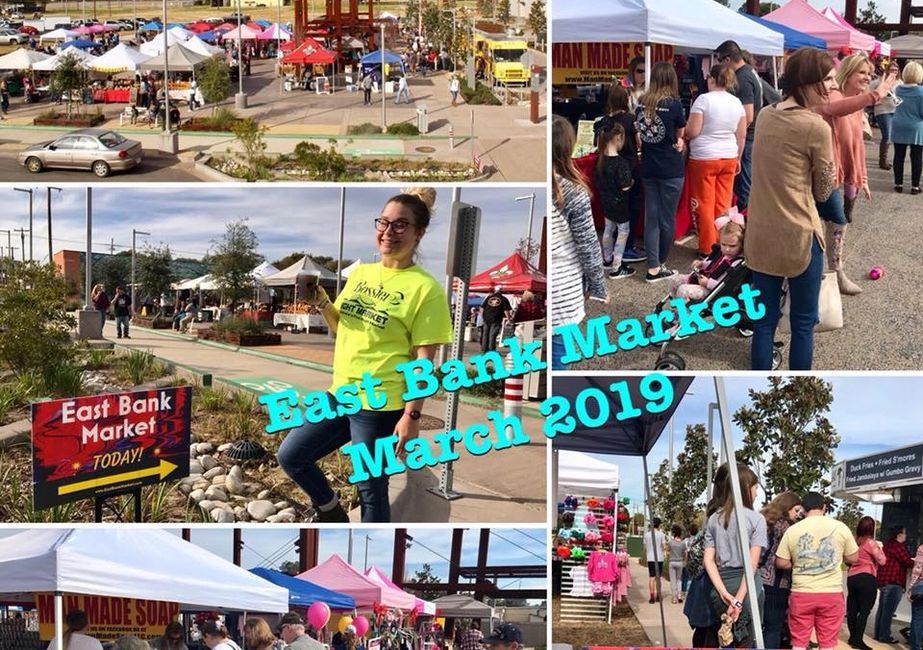 East Bank Market coming in March 2019.  Tuesday's 4pm-7pm in Bossier City's New East Bank District.