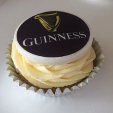 Guinness Logo Cupcake by Poppy's Cupcakes in London.