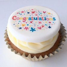 Congratulations Cupcake by Poppy's Cupcakes in London.