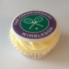 Wimbledon LTA topped Corporate Cupcake by Poppy's Cupcakes in London.