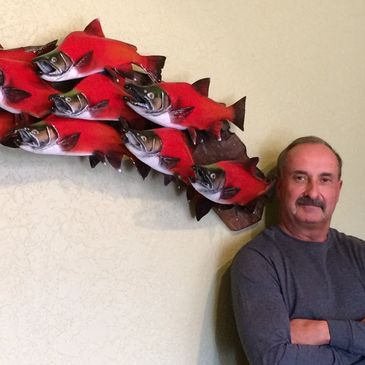 NM Wildlife artist Bruce Taylor, Woodcarvings, Wood sculpture, Fish Taxidermy, Reproductions.