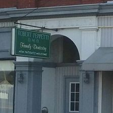Dr. Peppetti's entrance on Main Street in Portage, PA.