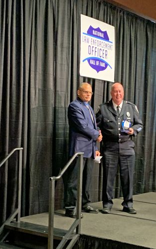 Kevin Davis was inducted into the National Law Enforcement Hall of Fame as 2019 Trainer of the Year