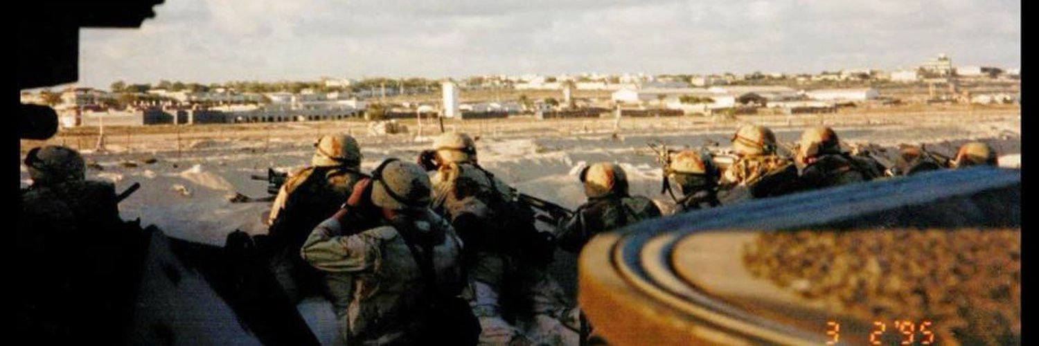 US Marines protect their perimeter during Operation United Shield, Mogadishu, Somalia, 1995.