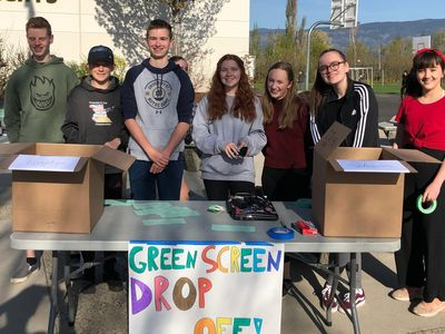 KCS Middle School students collecting neglected technology and saving it from our landfills.