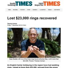 Lost gold jewellery found