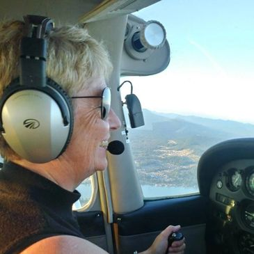 French Professor Catherine from BC, Canada flying over Vancouver.