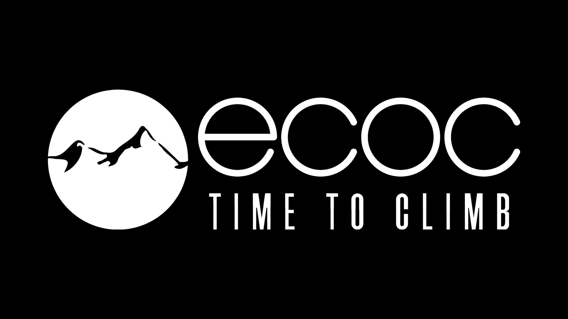 One of our logos that reads ECOC: Time to Climb