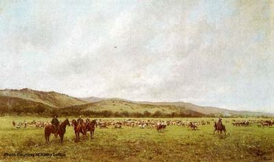 Santa Margarita Ranch painting by Jules Tavernier