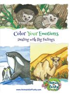 Need help dealing with big feelings?  This coloring book support emotional intelligence & well-being