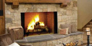 "Majestic Biltmore wood fireplace Available in sizes 36"" 42"""