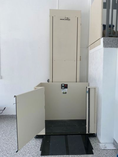 A Custom Gate Commercial Platform Lift