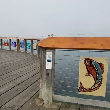 ART at the PORT at the Port of Brookings Harbor was modeled after the Boardwalk Art Show in Bandon