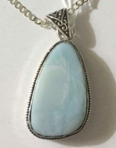 Caribbean Larimar set in .925 Sterling Silver