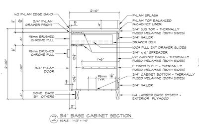COMMERCIAL CABINET SHOP DRAWING