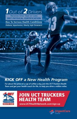 UrgentCareTravel, The Medical Clinic Network Located at Pilot Flying J. UCT Truckers Health Team.