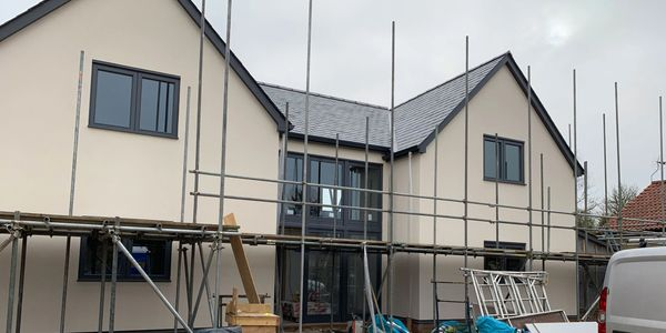 House in construction from Cambridgeshire