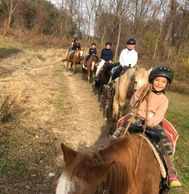 We offer about an hour long guided trail ride in one of the most scenic parts of the east coast.