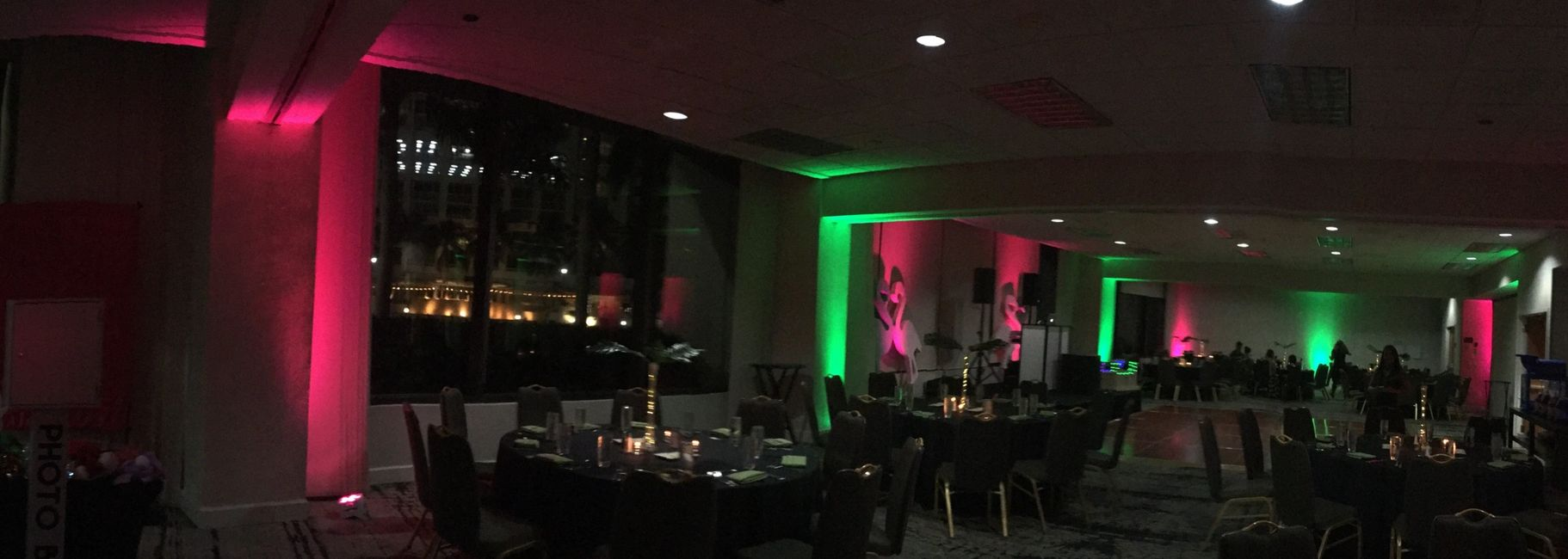 Uplighting Event services in Downtown Miami and Brickell