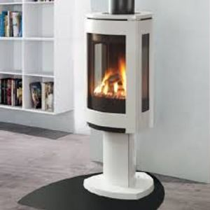 Go contemporary with the cool Jotul gas freestanding stove - so nice!