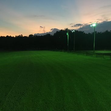 Driving Range at night with lights