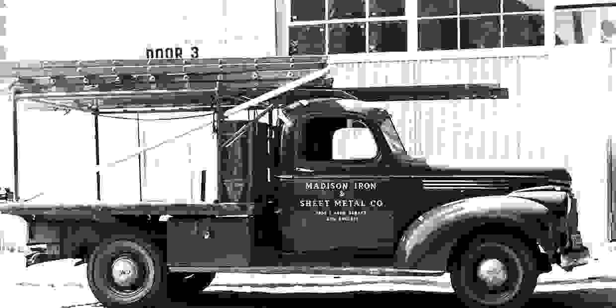 Truck used for fuel station repair services when Madison first started.