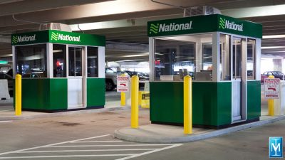 Modular entry / exit booths for National Rental Car