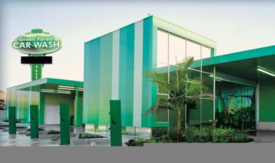 Green Forest Car Wash . Tilt-Wall Construction utilizing metal wall panels.