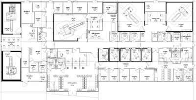 Engineered Modular Floor Plan for City of Hope Imaging Center in Duarte CA