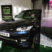 Blue Range Rover Sport have a full Detail and Ceramic Coat, Ceramic Coating in Manchester, Radcliffe