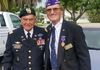Jack and Bert home from Fort Myers a Purple Heart City