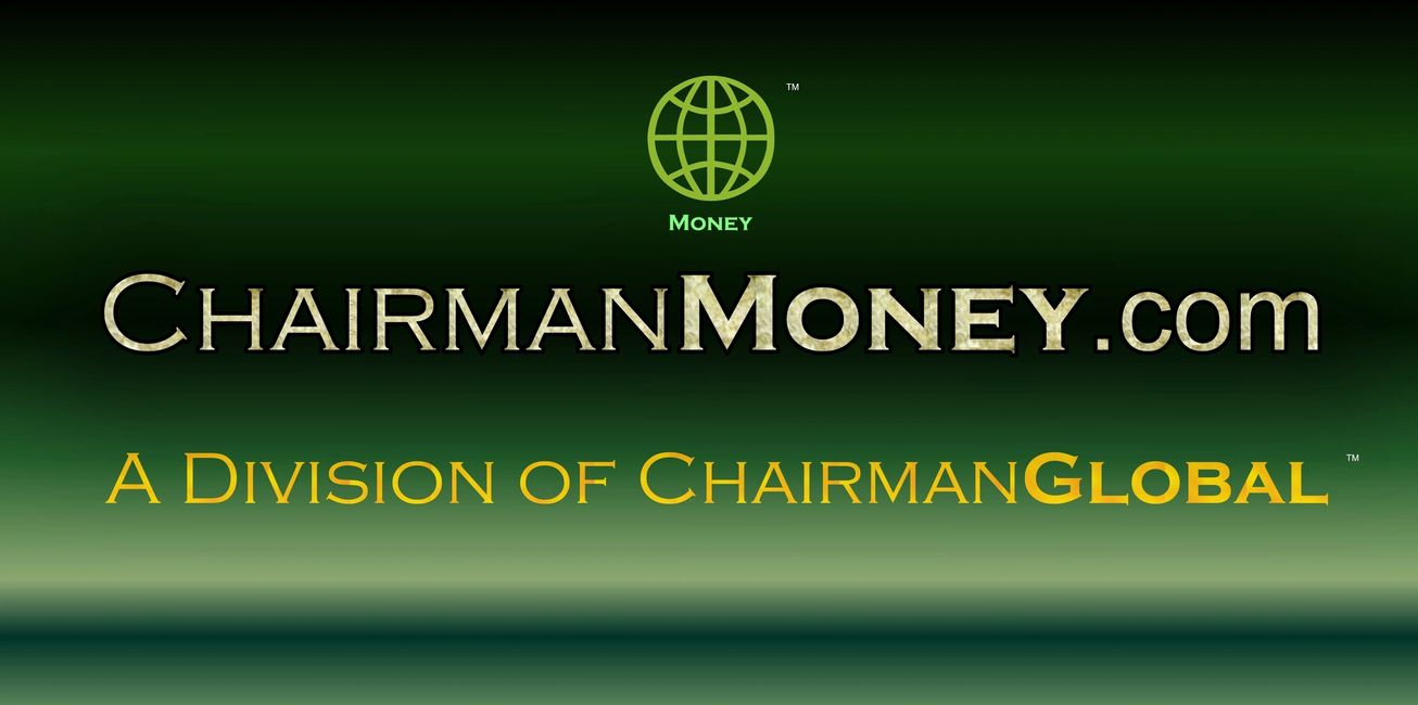 This is the artwork design for ChairmanMoney.com. Chairman Money is a division of ChairmanGlobal.com.