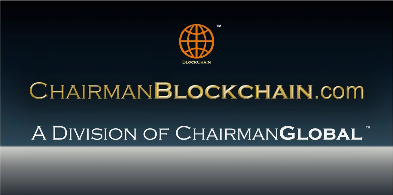 This is the artwork for ChairmanBlockchain.com. Chairman Blockchain is a division of ChairmanGlobal.com.