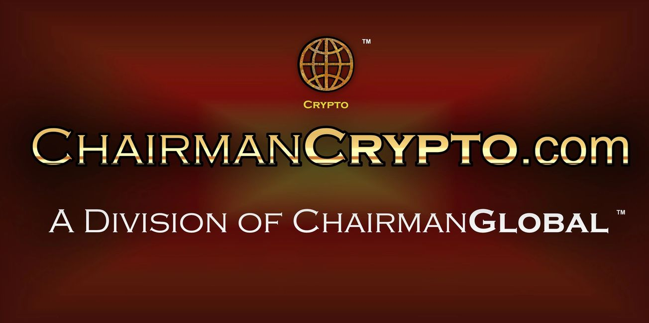 This is the artwork for ChairmanCrypto.com. Chairman Crypto is a division of ChairmanGlobal.com.