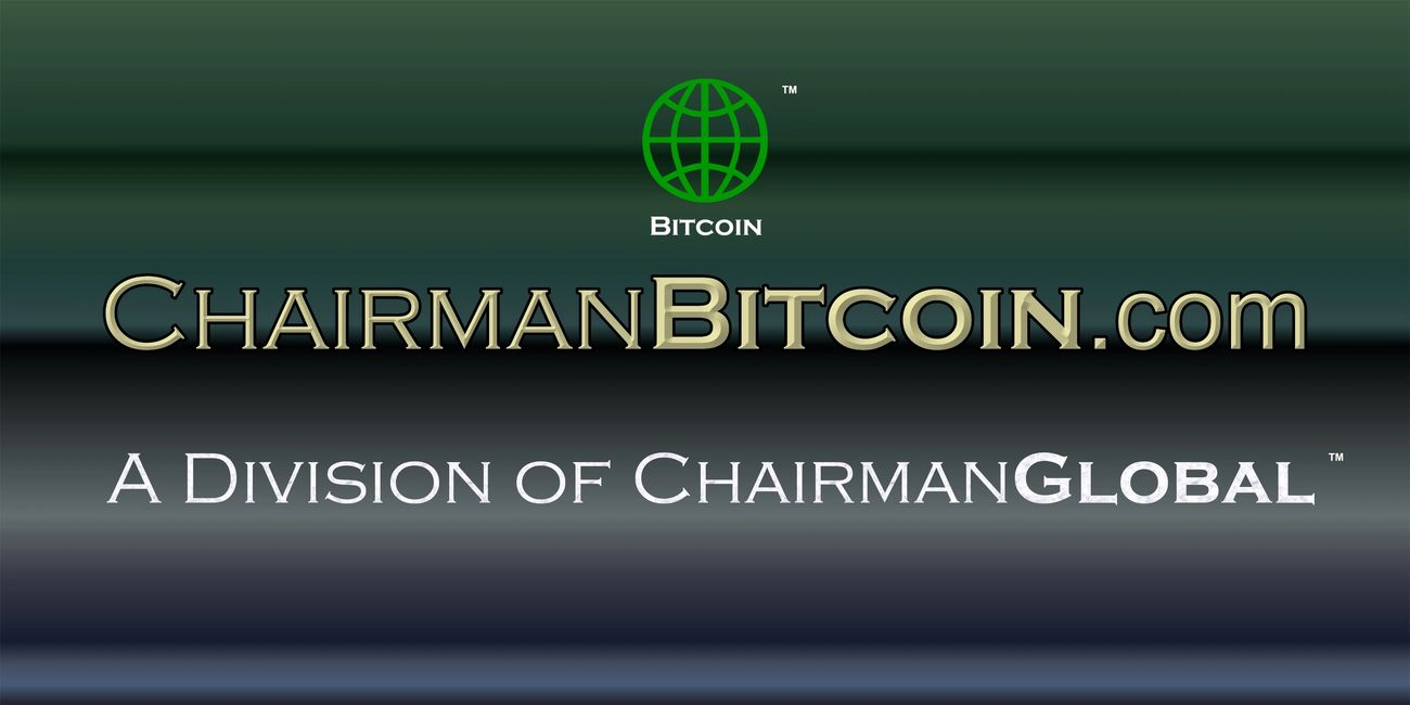 This is the artwork for ChairmanBitcoin.com. Chairman Bitcoin is a division of ChairmanGlobal.com.