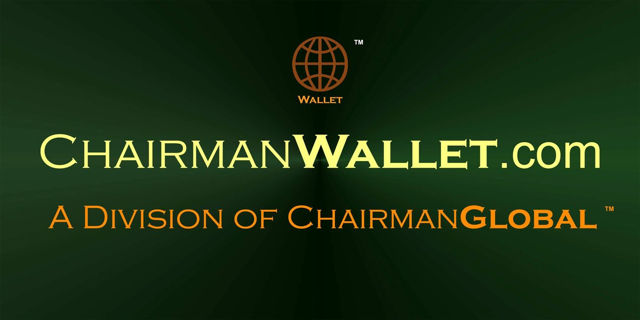 This is the artwork for ChairmanWallet.com. Chairman Wallet is a division of ChairmanGlobal.com.