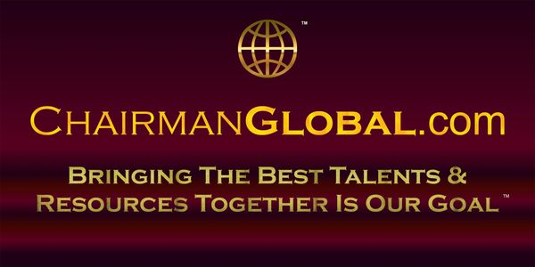 This is one of the artwork designs for ChairmanGlobal.com. Chairman Global is a new website for sale