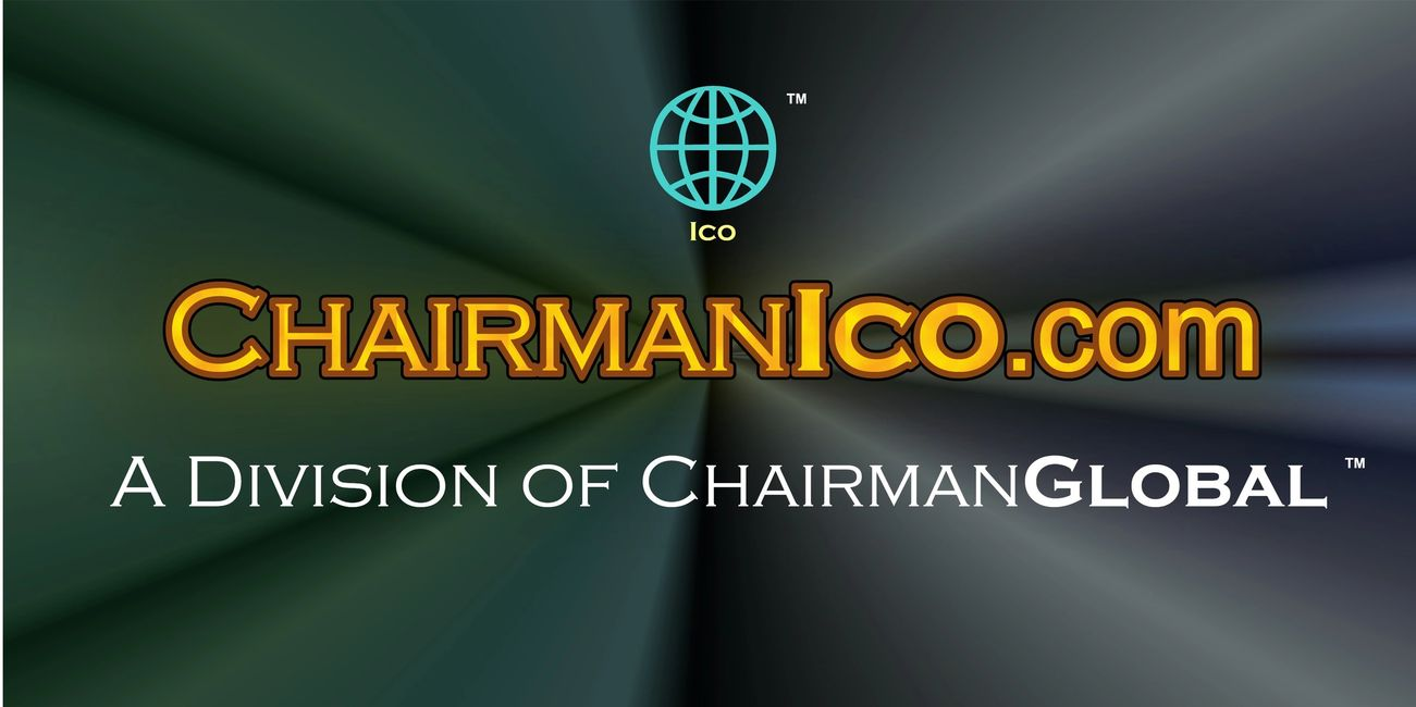 This is the artwork for ChairmanICO.com. Chairman ICO is a division of ChairmanGlobal.com.