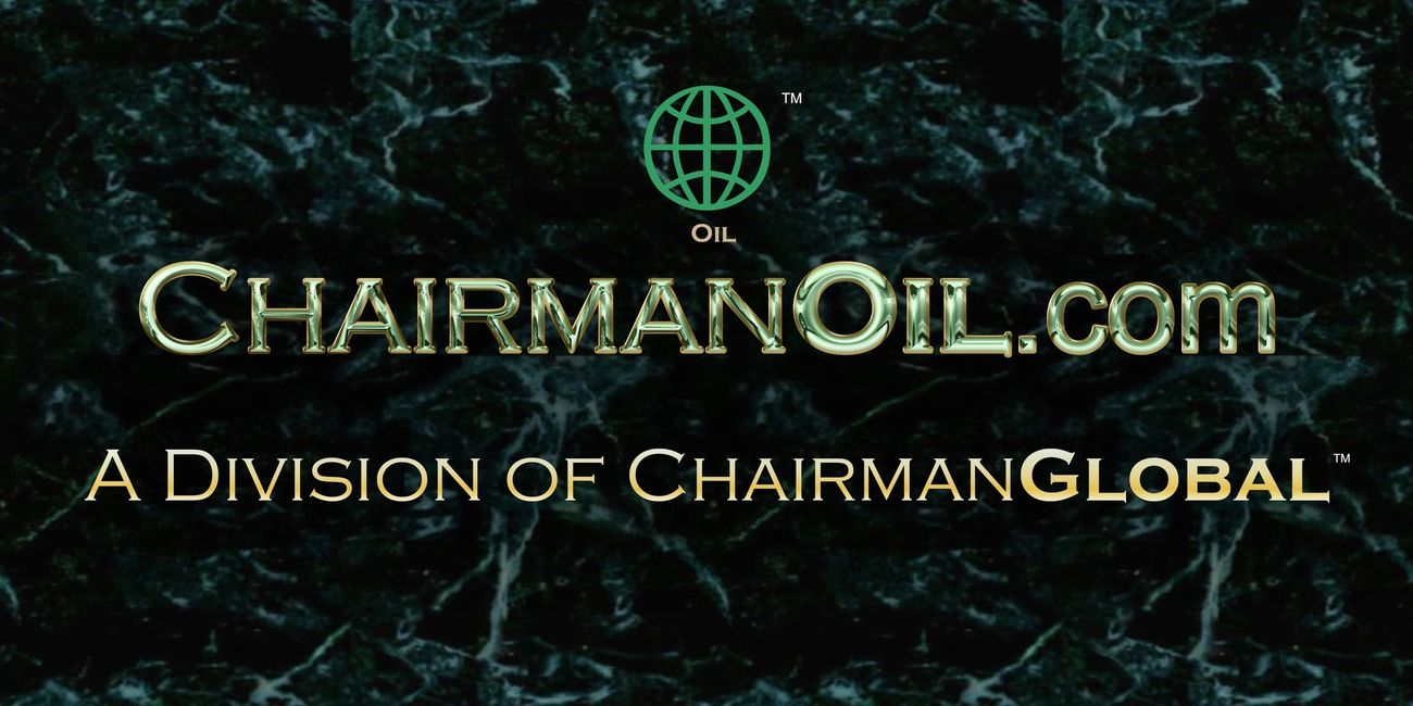 This is the artwork design for ChairmanOil.com. Chairman Oil is a division of ChairmanGlobal.com.