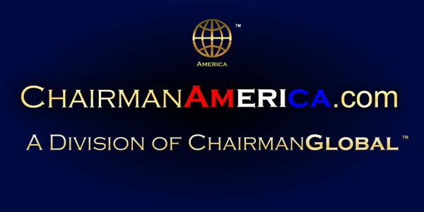 This is the artwork design for ChairmanAmereica.com. Chairman America is a division of ChairmanGlobal.com.