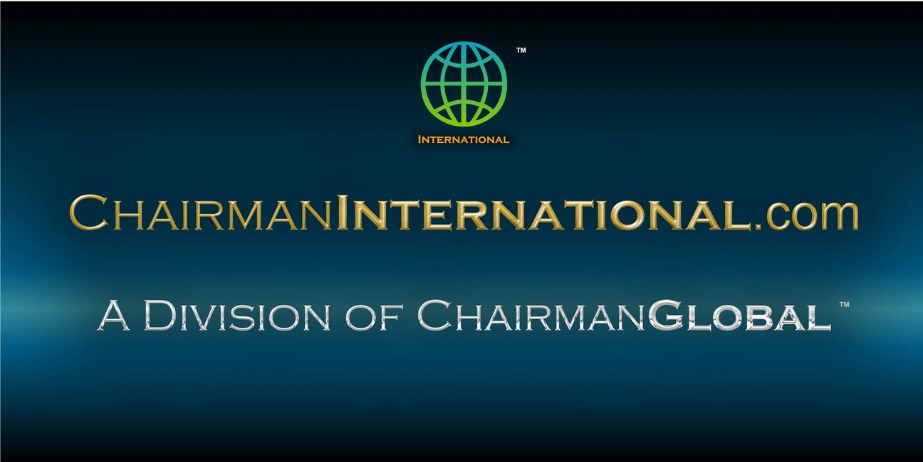 This is the artwork design for ChairmanInternational.com. is a division of ChairmanGlobal.com.