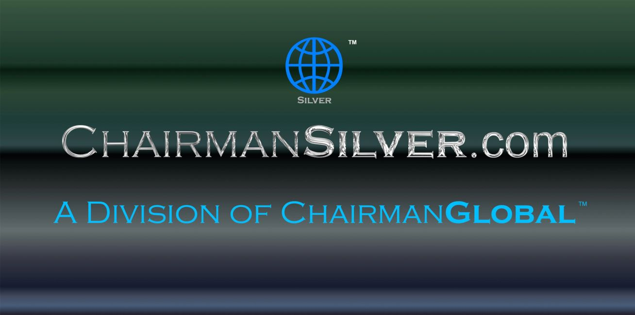 This is the artwork design for ChairmanSilver.com. Chairman Silver is a division of ChairmanGlobal.com.