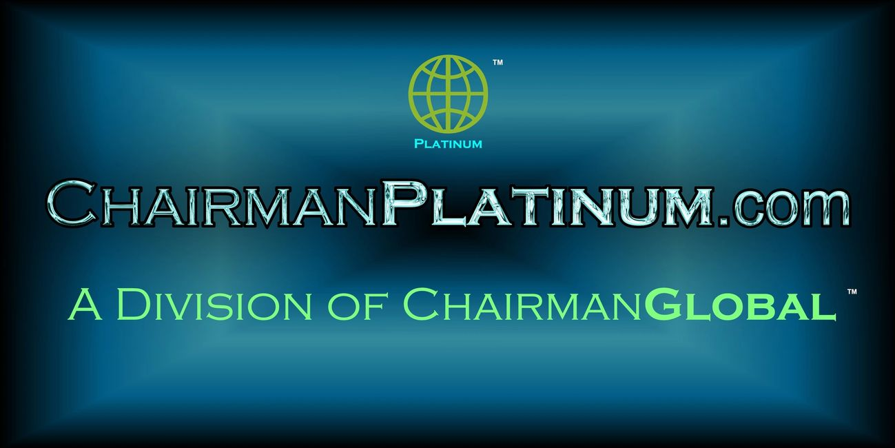 This is the artwork for ChairmanPlatinum.com. Chairman Platinum is a division of ChairmanGlobal.com.