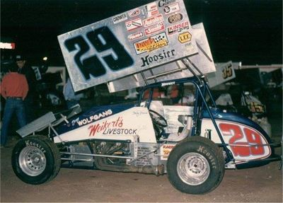 Doug Wolfgang driving  Weikert's #29 World of Outlaws Winged Sprint Car,  Davis Motors Speed Parts