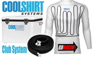 CoolShirt Club System Motorsports cooling kit. Cool water shirt, ice based cooling engine & hose.