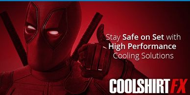 Spider man picture  stay cool on set with high performance cooling solutions